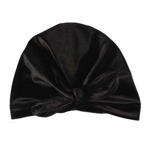 Other - Brand New Newborn Black Velvet Bow Knot Turban Hat